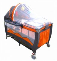 MamaKiddies VIP Orange (changeable height) Travel Cots + Mosquito net + Gift