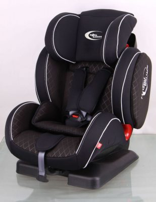 MamaKiddies Angel Wings Black-Checkered (9-36 Kg) Car seat with Protector